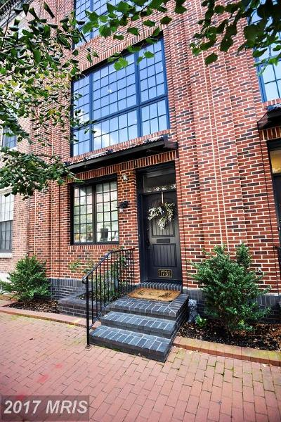 Baltimore Townhouse For Sale: 1731 Aliceanna Street