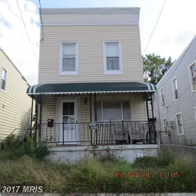 Baltimore MD Single Family Home For Sale: $20,000