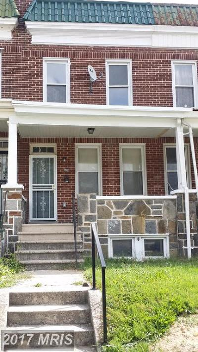 Baltimore City Rental For Rent: 239 Hilton Street S