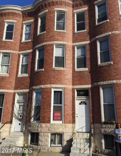 Baltimore Single Family Home For Sale: 1520 33rd Street