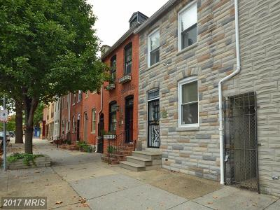 Fells Poi Nt, Fells Point, Fells Point/Hopkins, Fells Pt./Hopkins Townhouse For Sale: 517 Ann Street
