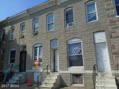Baltimore Townhouse For Sale: 614 Milton Avenue N