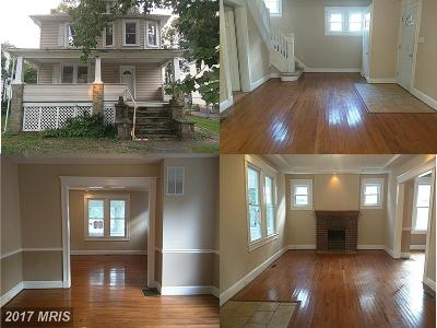 Baltimore Single Family Home For Sale: 3816 Woodbine Avenue