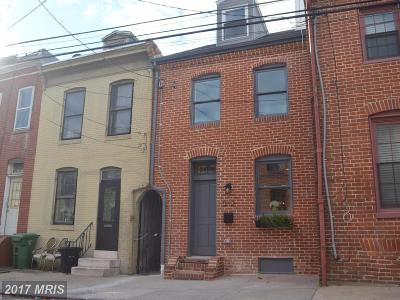 Fells Poi Nt, Fells Point, Fells Point/Hopkins, Fells Pt./Hopkins Townhouse For Sale: 512 Dallas Street S