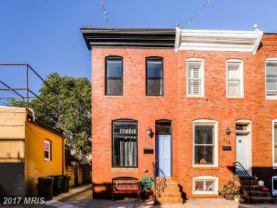 Baltimore City Townhouse For Sale: 720 Glover Street S