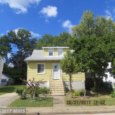 Baltimore MD Single Family Home For Sale: $74,000