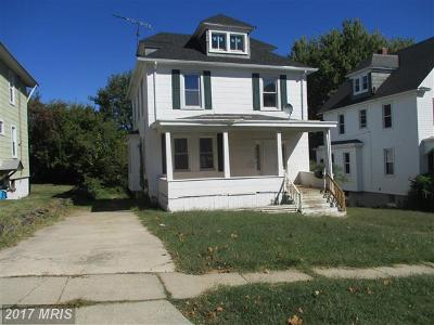 Baltimore MD Single Family Home For Sale: $120,000