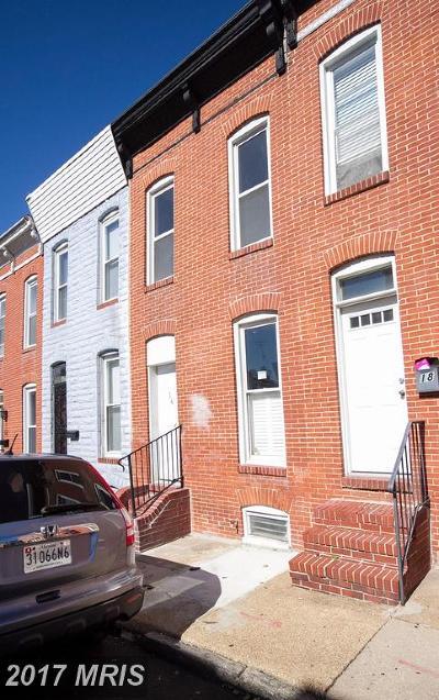 Baltimore City Condo For Sale: 16 Gittings Street E