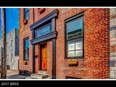 Baltimore Townhouse For Sale: 318 Regester Street S