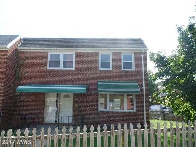 Baltimore MD Single Family Home Sale Pending: $45,000