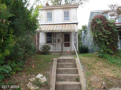 Baltimore MD Single Family Home Sale Pending: $110,000