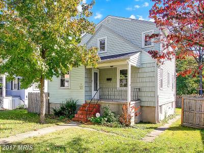 Baltimore MD Single Family Home For Sale: $179,900