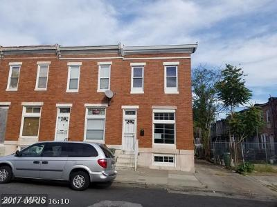 Baltimore Townhouse For Sale: 1401 Montford Avenue