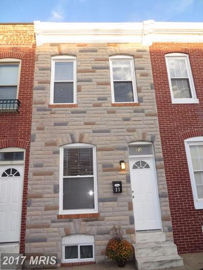 Baltimore Townhouse For Sale: 23 Curley Street