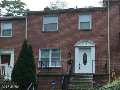 Baltimore Townhouse For Sale: 3904 Rexmere Road