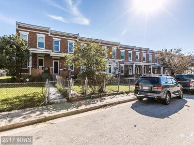 Baltimore Townhouse For Sale: 1103 40th Street