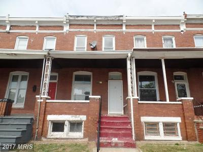 Baltimore MD Single Family Home For Sale: $15,000
