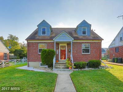 Baltimore Single Family Home For Sale: 6017 Winthrope Avenue