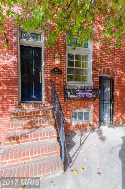 Fells Point Townhouse For Sale: 320 Wolfe Street
