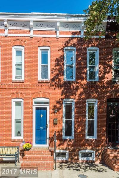Federal Hill Townhouse For Sale: 416 Folsom Street