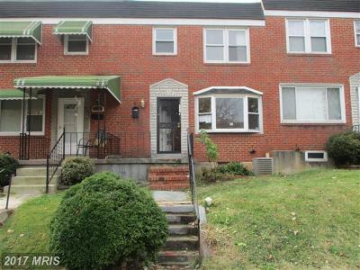 Baltimore Townhouse For Sale: 5524 Cedonia Avenue