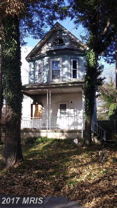 Baltimore MD Single Family Home For Sale: $25,000