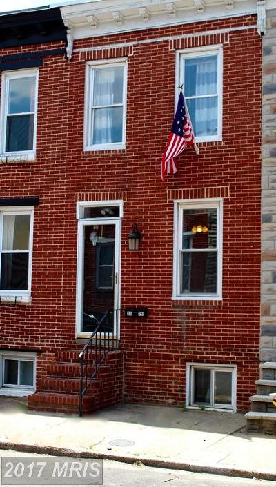 Federal Hill Townhouse For Sale: 1528 Clarkson Street