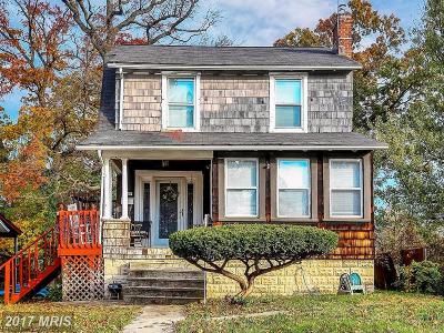 Baltimore Single Family Home For Sale: 5109 Saint Georges Avenue