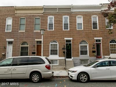Baltimore Townhouse For Sale: 1808 Jackson Street