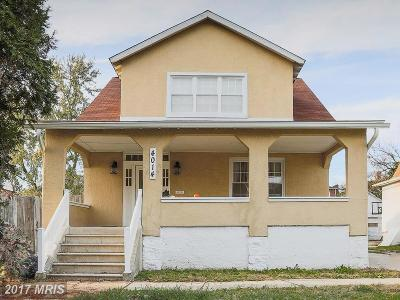Baltimore Single Family Home For Sale: 4014 Pinkney Road