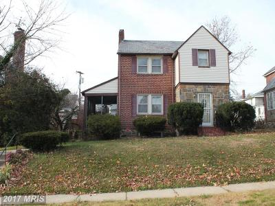 Baltimore Single Family Home For Sale: 3608 Dennlyn Road