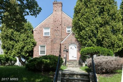 Baltimore Single Family Home For Sale: 3602 Wabash Avenue