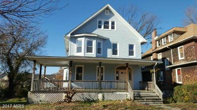 Baltimore Single Family Home For Sale: 2606 Roslyn Avenue