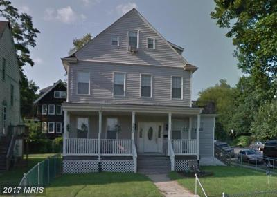 Baltimore Single Family Home For Sale: 3600 Clifton Avenue