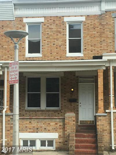 Baltimore Townhouse For Sale: 2866 Kentucky Avenue