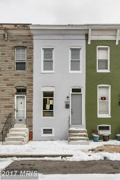 Baltimore Townhouse For Sale: 1353 Ward Street