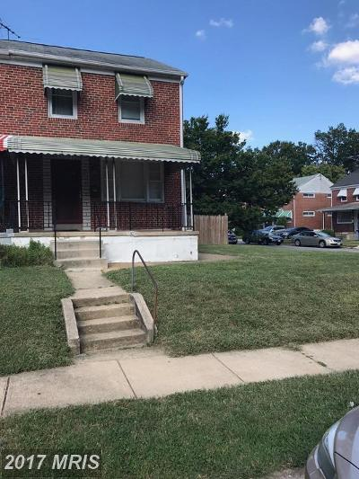 Baltimore Single Family Home For Sale: 3626 Bellevale Avenue