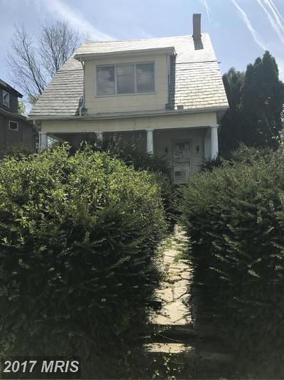 Baltimore Single Family Home For Sale: 3417 Springdale Avenue
