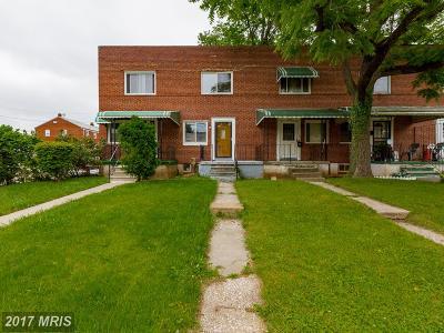 Baltimore Single Family Home For Sale: 5111 Pimlico Road