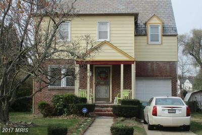 Baltimore Single Family Home For Sale: 3816 Callaway Avenue