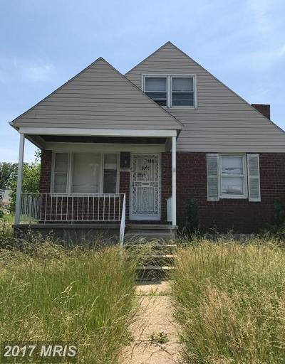 Baltimore Single Family Home For Sale: 2507 Northern Parkway