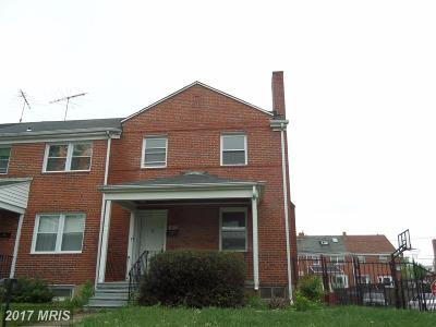 Baltimore MD Single Family Home For Sale: $80,000