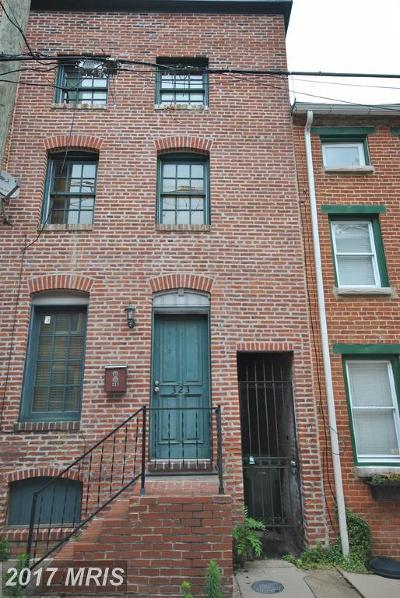 Fells Point Townhouse For Sale: 323 Durham Street S