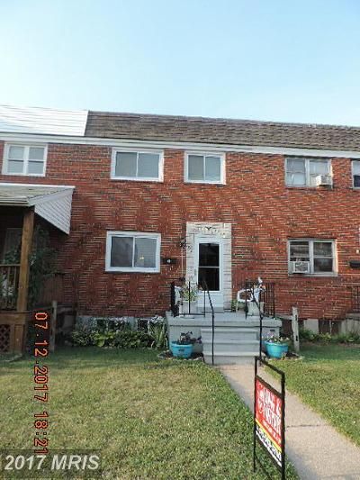 Baltimore Townhouse For Sale: 7886 Harold Road