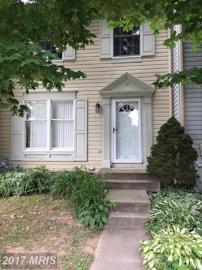 Owings Mills Townhouse For Sale: 19 Merino Court