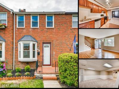 towson Townhouse For Sale: 1647 Thetford Road