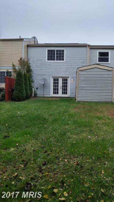 Owings Mills Townhouse For Sale: 9410 Fitzharding Lane