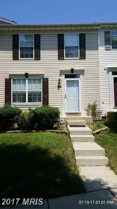 Reisterstown Townhouse For Sale: 222 Pidco Road