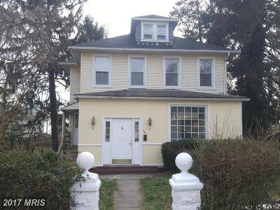 Reisterstown Single Family Home For Sale: 100 3rd
