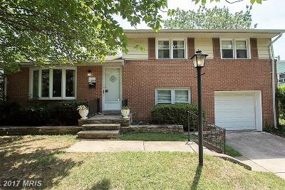 Catonsville Single Family Home For Sale: 209 Elpin Drive E